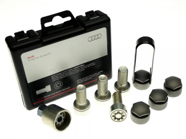 Audi Original Felgenschloß, Radschrauben mit Diebstahlhemmung Q7 4L