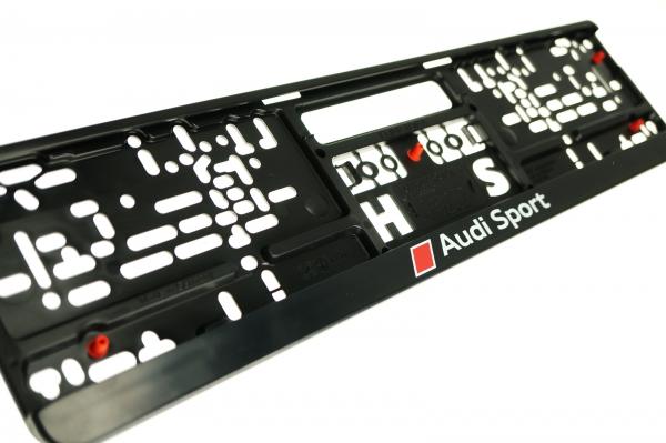 Audi Sport Kennzeichenhalter, vibrationsarm