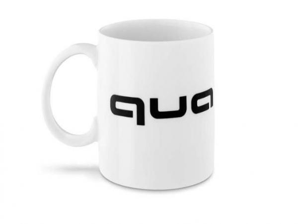 Audi quattro Tasse weiß/schwarz