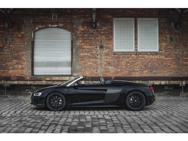 "Audi R8 Spyder Wandbild auf gebürstetem Aluminium ""Sideview"""