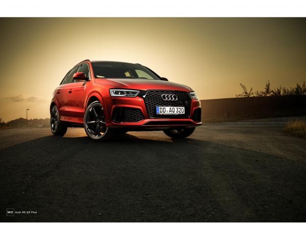 "Audi RSQ3  Wandbild auf gebürstetem Aluminium ""Frontansicht"""