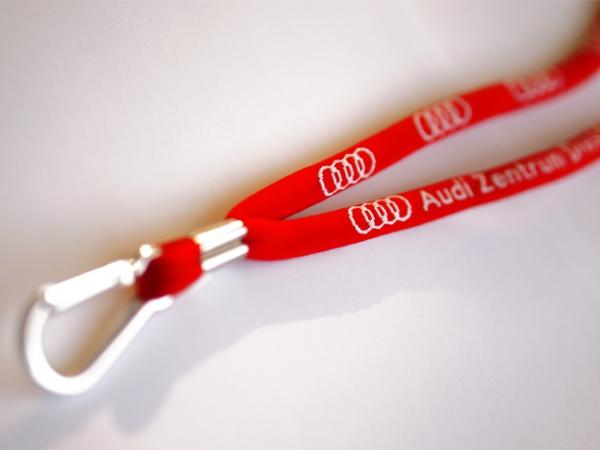 Audi Zentrum Dresden Schlüsselband mit Audi-Ringen und Karabinerhaken