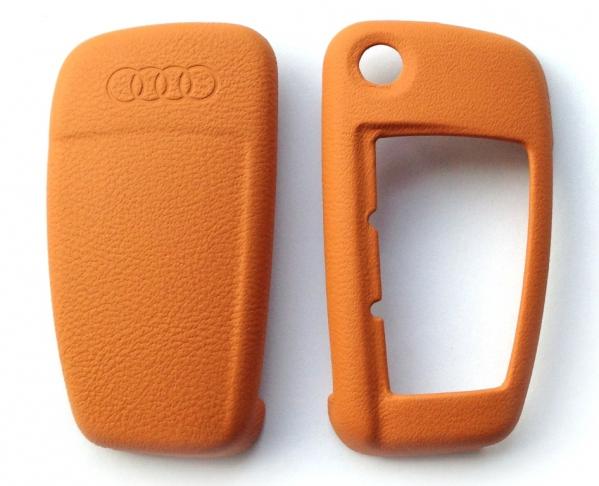 Audi Leder Schlüsselblende Signalorange