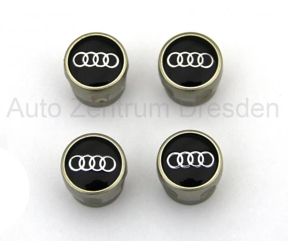 Audi Original Ventilkappen mit Audi Ringen für Gummi-/ Metallventile