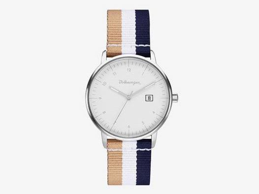 Klassik Armbanduhr mit Volkswagen Schriftzug im Vintage Style