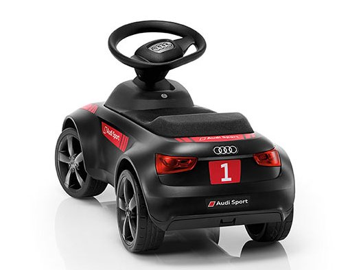 audi junior quattro motorsport mit led tagfahrlicht schwarz. Black Bedroom Furniture Sets. Home Design Ideas