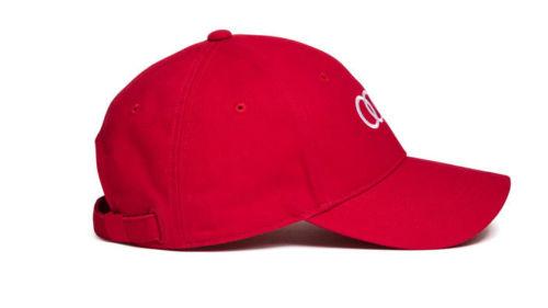 Audi Baseballkappe Rot Mit Wei 223 En Audi Ringen